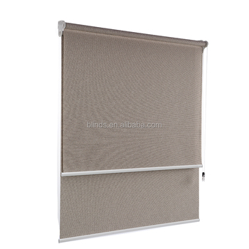 one way blinds film one way vision roller blinds chain operation roller blinds for hot sale blackout double layer way vision