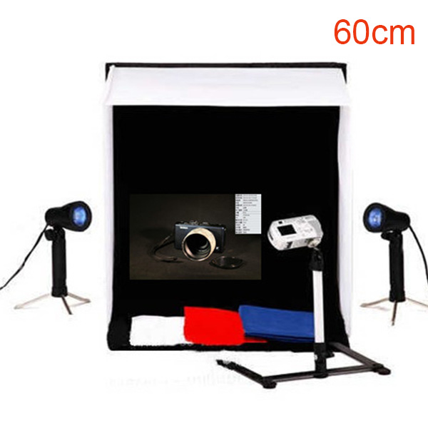 "Photo Studio 24"" Photography Light Tent mini studio box 60cm Cube Lighting softbox kit"