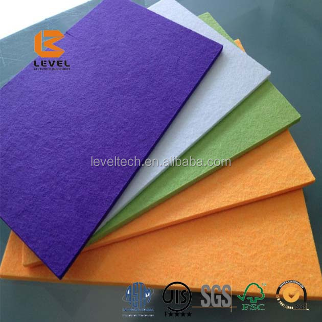 3mm 100% Recycled Soundproof Polyester Fiber PET Acoustic Panels USA
