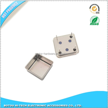 Metal shielding cap, square shielding cap of clock oscillator