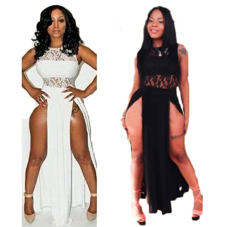 s xl v tement pour femme grande taille robe d 39 t 2015 pour femme robe de dentelle sexy cut. Black Bedroom Furniture Sets. Home Design Ideas