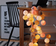 10pcs,20pcs copper wire cotton ball string led light,fairy light,light chain for party decoration