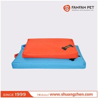 Square shaped oxford dog crate mat bed with washable cover