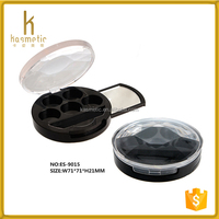 Round 5 color eyeshadow compact empty makeup eyeshadow jar with mirror