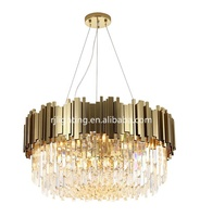 new design contemporary gold dining living room hanging lamp crystal modern pendant chandelier