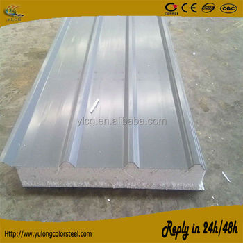 Styrofoam Insulated Corrugated Colorbond Aluminum Roof Sandwich Panel