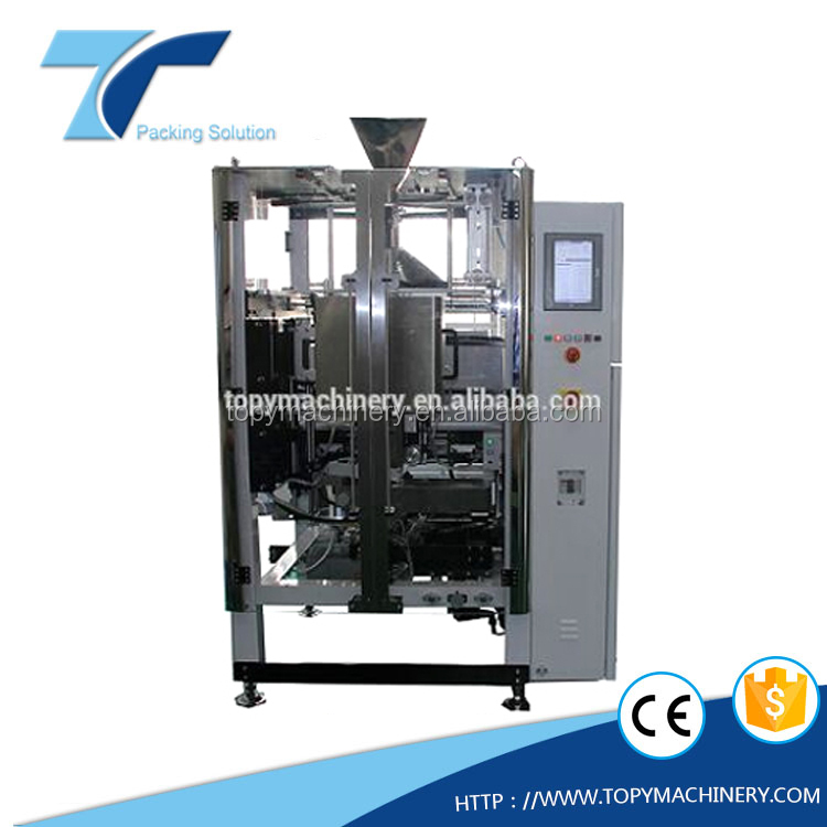 TOPY 330ZL high speed VFFS film roll doypack pouch and zipper bag vertical packing machine