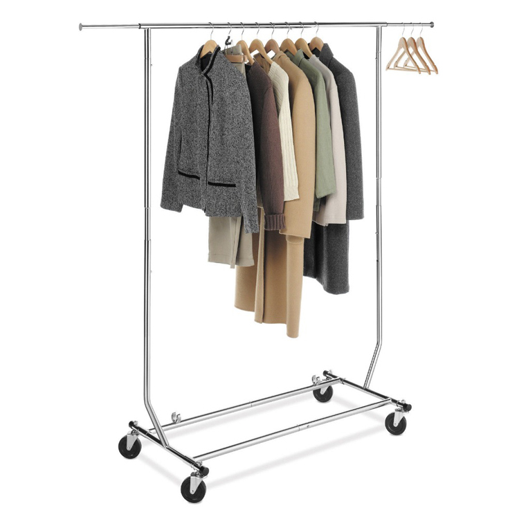 Foldable Garment Rolling Clothes Rack