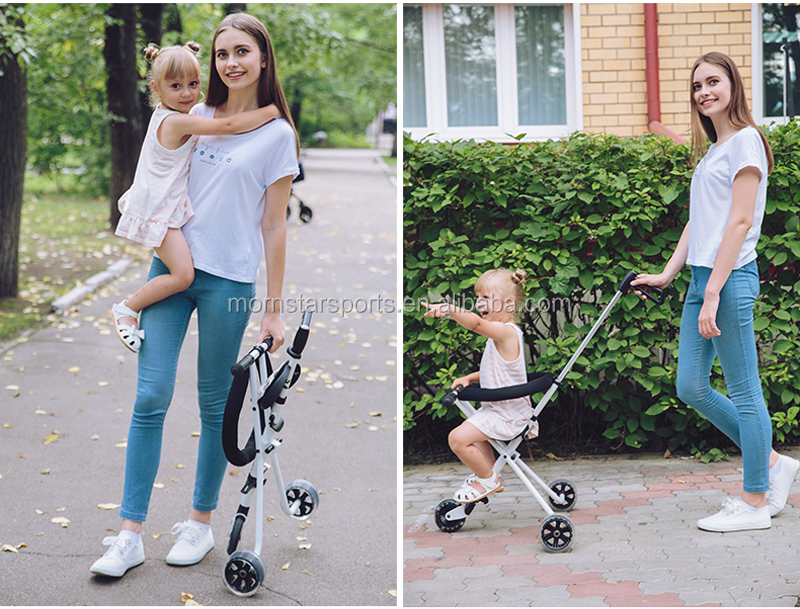 New design 3 Wheels Multicolor Simple Foldable Baby Trike Stroller for sale