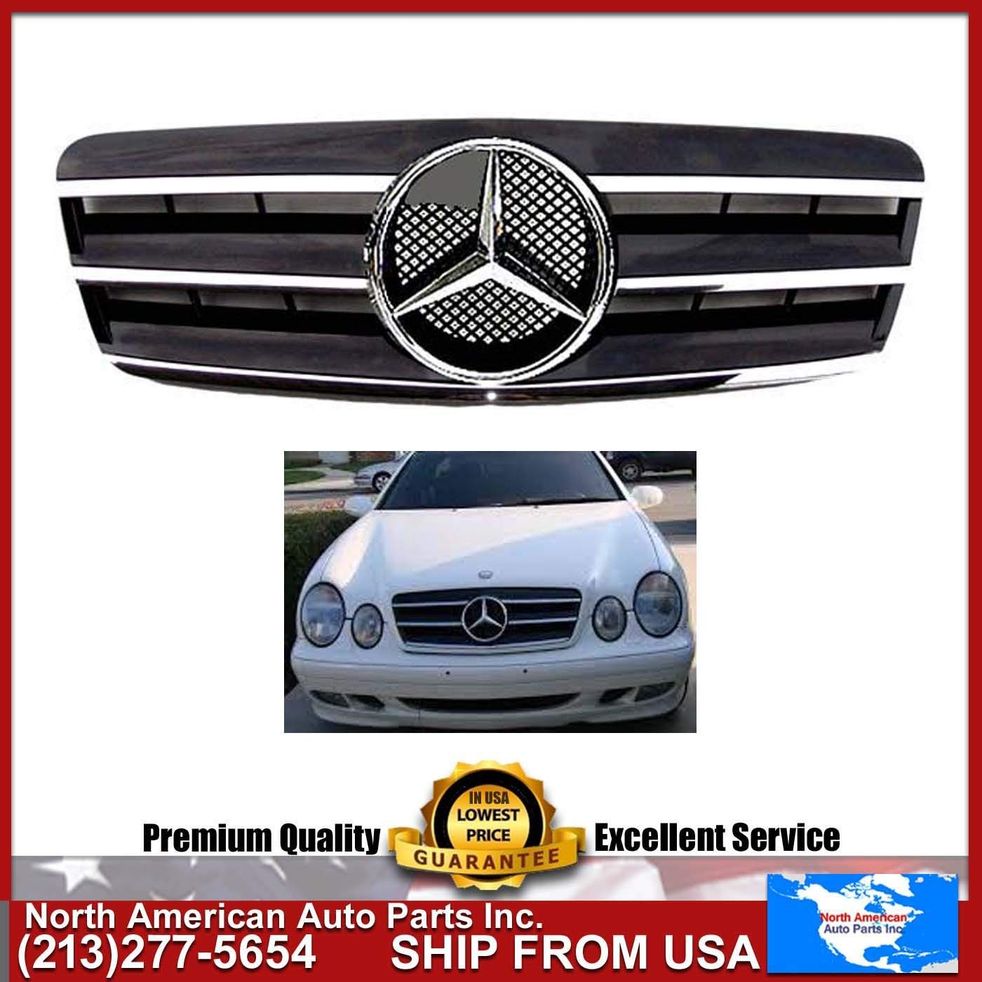 Cheap Benz 320 Clk Find Deals On Line At Alibabacom 1999 Ml430 Fuel Filter Get Quotations Mercedes 98 02 W208 Black Chrome Grille Star Amg Clk320 Clk430 Emblem