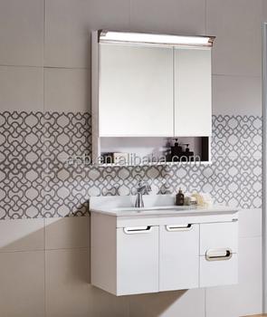 Modern Single Sink Used Stainless Steel Bathroom Fixtures Vanity