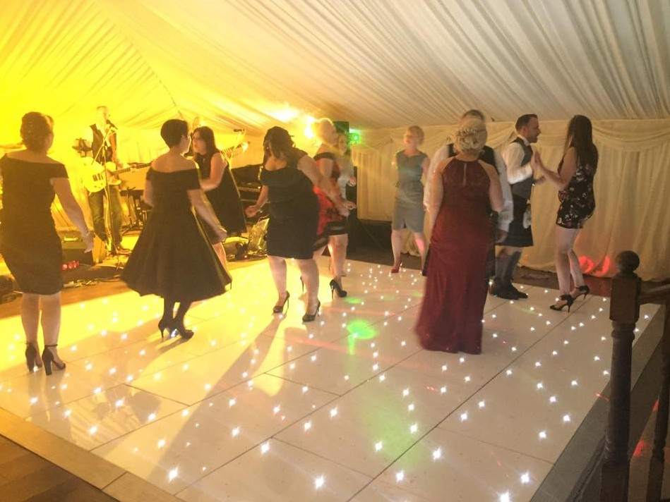 white and black Acrylic star dance floor systems with fast delivery to your local
