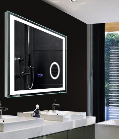 High Class Bathroom Led Lighting Wall Mirrors With Digital Clock ...