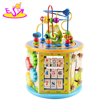 New Hottest educational Wooden Activity Cube for Children Ages 1 and up W11B153