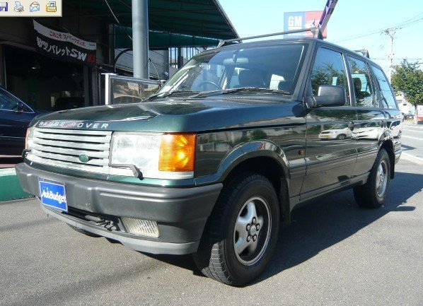 Second hand automobiles 1997 Land Rover Range Rover car/84,660km/RHD/SUV/4,600 cc/Green