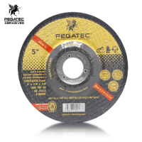 PEGATEC 125x3x22.23mm Depressed Center Cutting Disc for Wood