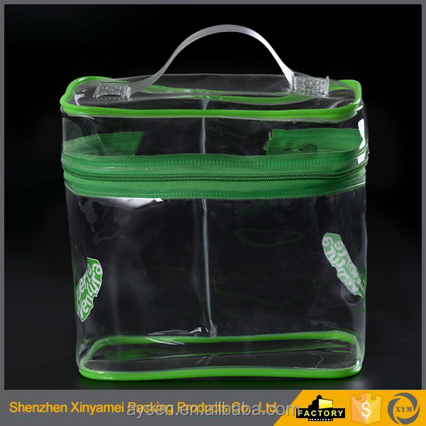 clear plastic shopping zipper pvc cosmetic bag companies manufacture pvc plastic zipper bag, plastic slider bag