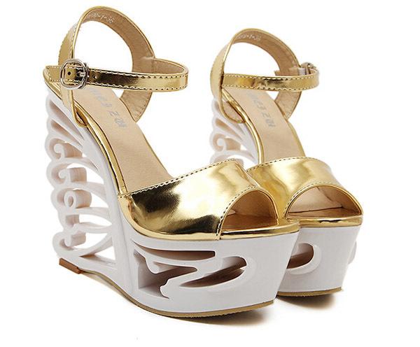 Get Quotations · 2015 Fashion Women sandals 15cm High Heels Sexy Sandals  wedge platform sandals sexy 6 inch wedge
