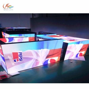 RGX new pillar led display/4 sided led display/L style led screen