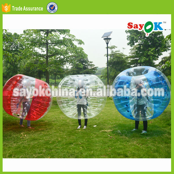 knocker ball inflatable bubble bumper body bounce grass ball suit