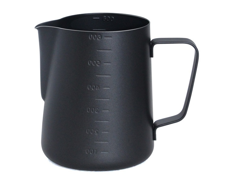 Stainless steel coffee milk foam pitcher with measuring