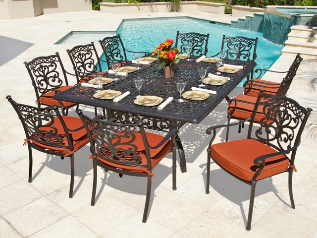Amazing 2017 High Quality Cast Aluminum Outdoor Patio Furniture Dining Table And  Chair Set