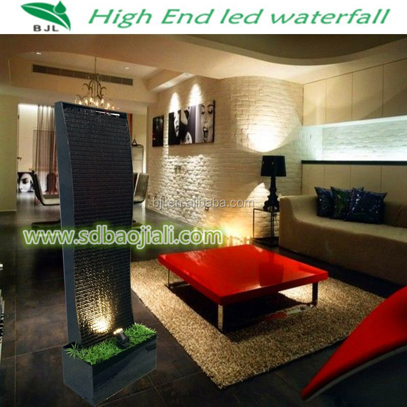 restaurant decoration led lighting artificial waterfall acrylic indoor water fountains