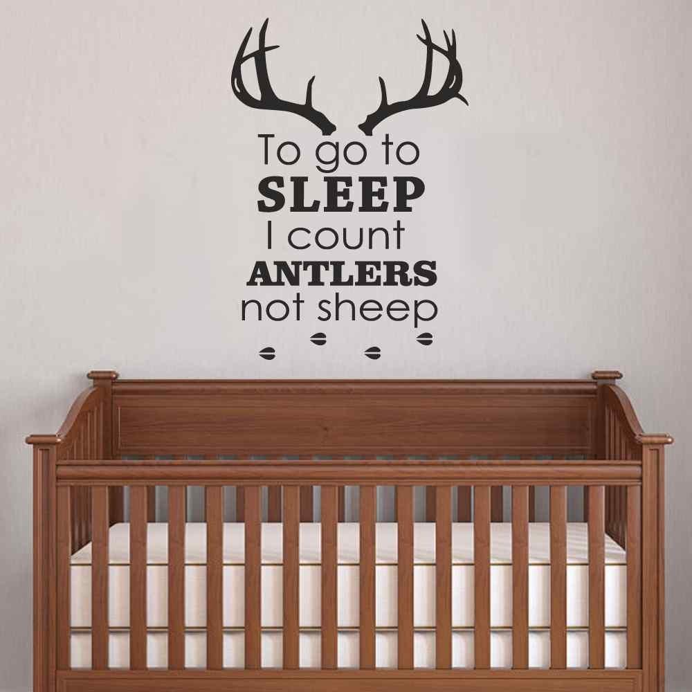 Battoo Nursery Wall Decals To Go Sleep I Count Antlers Not Sheep Boy Decal