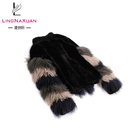 wholesale Real Sheep Fur and with mongolian fur Long Sleeves women winter coat for Women
