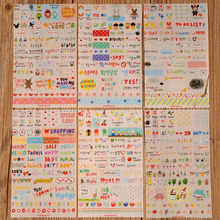 6 sheets/pack Sheet Sticker Pack Emoji Stickers Most Popular Emojis For Mobile Phone Kids Rooms Home Decor Tablet