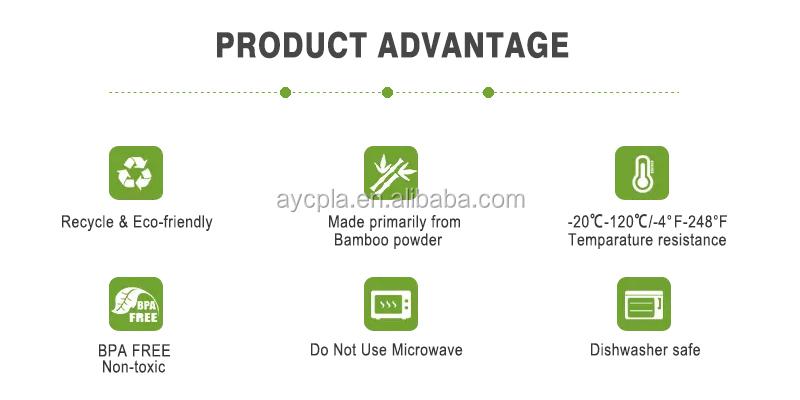 Biologisch abbaubare gesunde Bambusfaser 5-tlg Kindergeschirr Fütterungsset