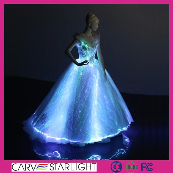 45f232bb304 2016 nouvelle arrivée fiber optique glowing lumineux robes de mariée ...