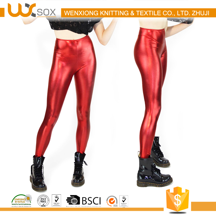 WX-60401 shiny lycra spandex leggings