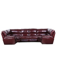 European modern leather cheap small purple u shaped 7 seater sectional sleeper sofa