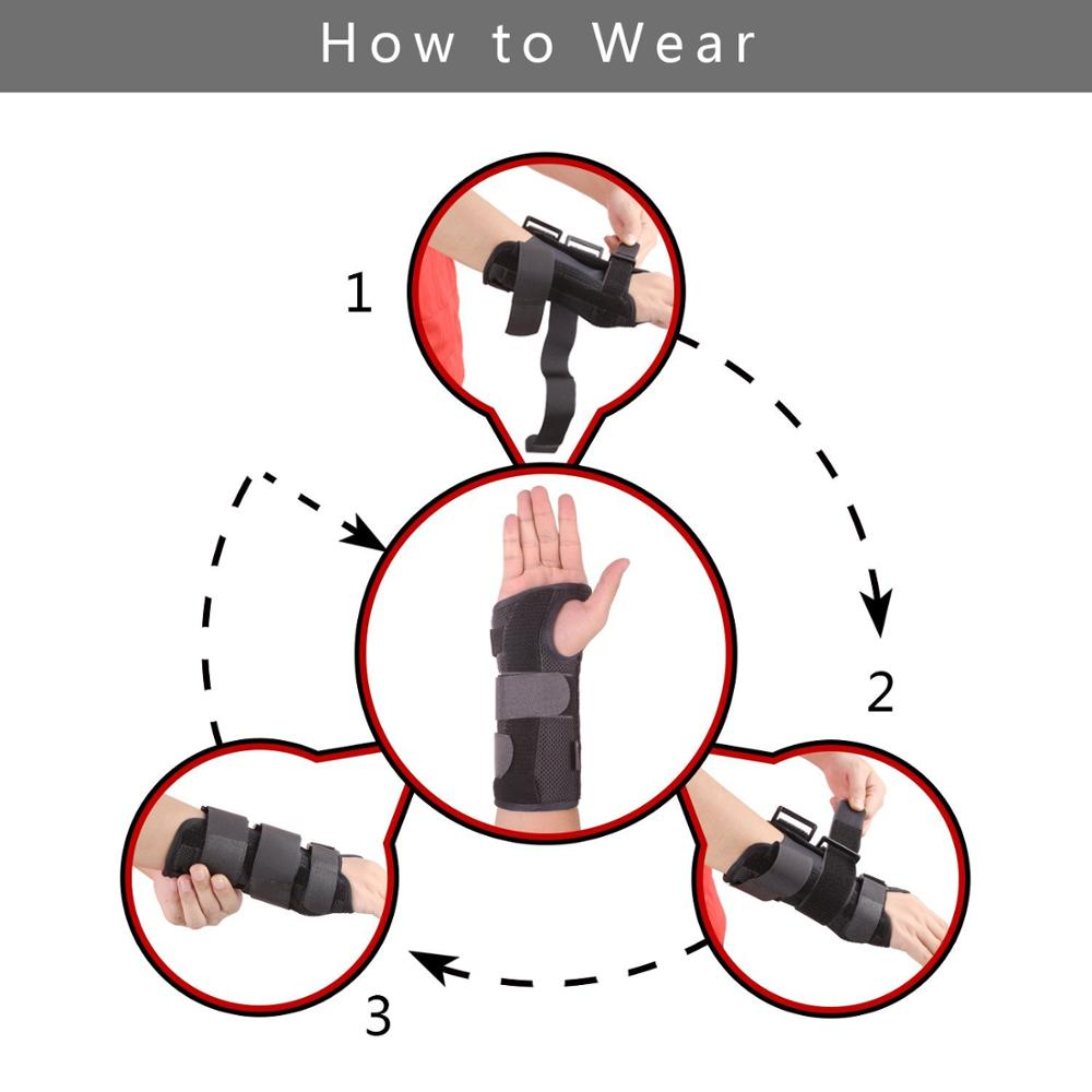 Night Wrist Sleep Support Brace Cushioned to Help with Carpal Tunnel and Relieve and Treat Wrist Pain