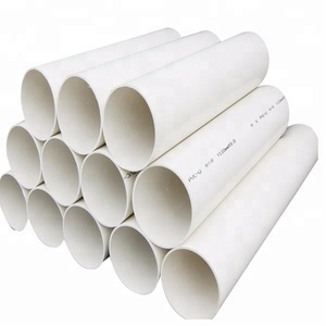Factory plastic round tube white pvc pipe in shanghai