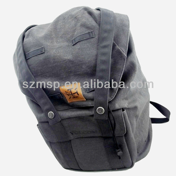 2013 fashion grey water washed canvas backpack for adult
