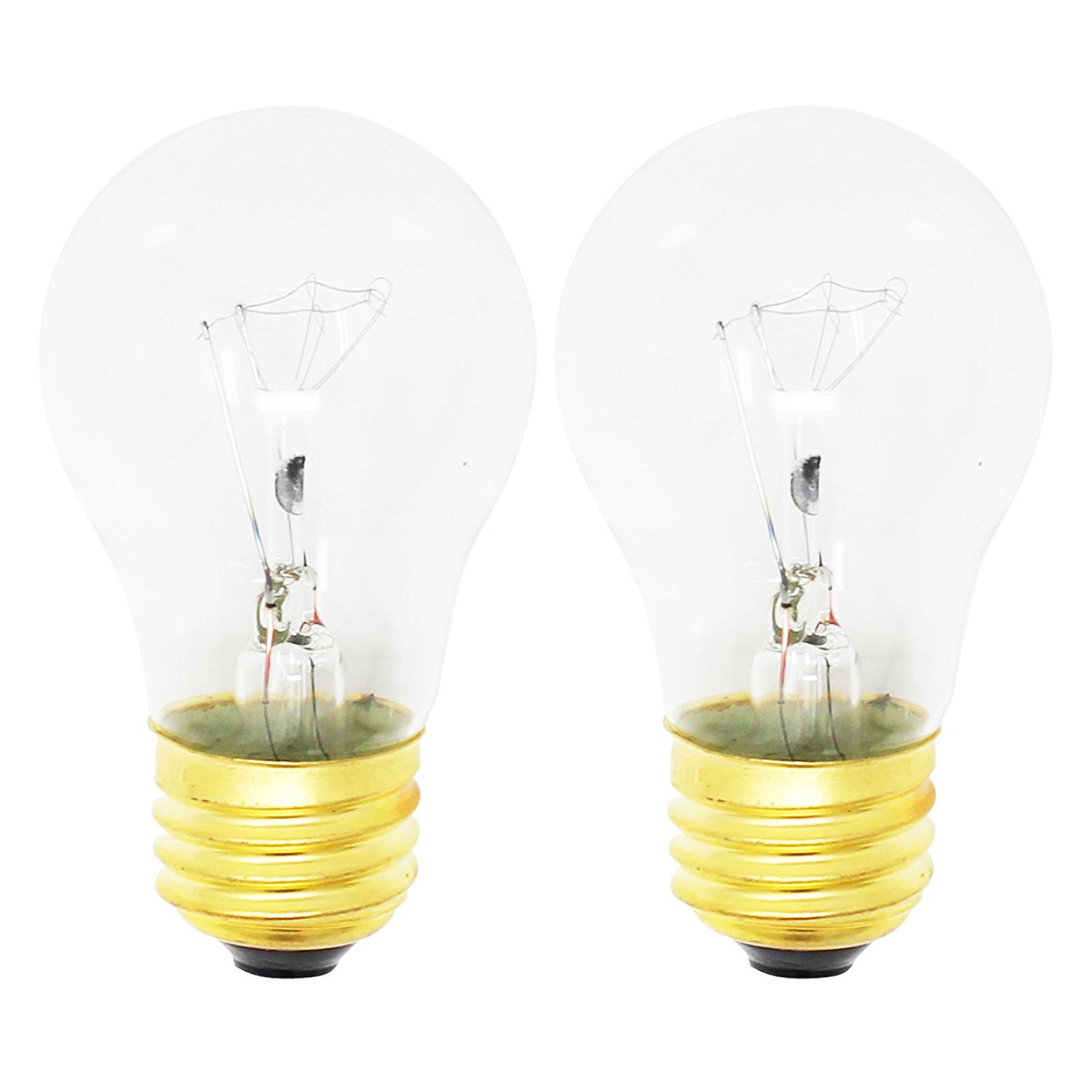 2-Pack Replacement Light Bulb for Frigidaire FGEF3032KWB Range / Oven - Compatible Frigidaire 316538901 Light Bulb