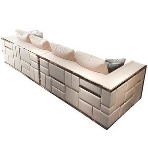 2019 Luxury furniture living room modern sofa furniture divano leather sofa set