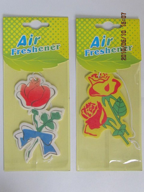 flower scent hanging paper perfume as flower shaped promotional gift