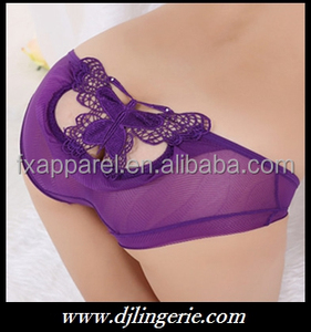 Purple fashion design sexy girls underpants wholesale