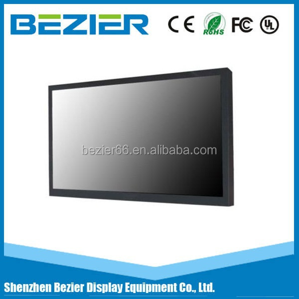 Excellent quality RoHS 42 inch ultra thin CCTV lcd monitor for metro event thin stretched advertising display