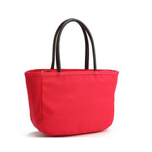 Zipper waterproof beach tote bag red jelly tote bag with leather handles