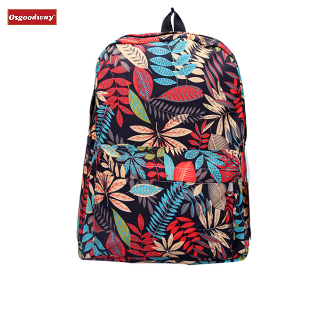 Osgoodway Waterproof Stylish Large Cute Women Girls Laptop Canvas Book Bag Backpack for Campus