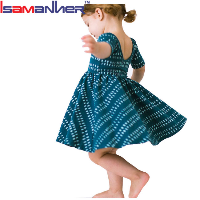 New fashion design small girls dress frock models for kids baby