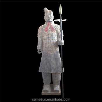 Meilun Qin's terra-cotta warriors life size Chinese first emperor terracotta clay army garden decoration manufacturer