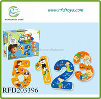 Kid number game toy learning and matching card player