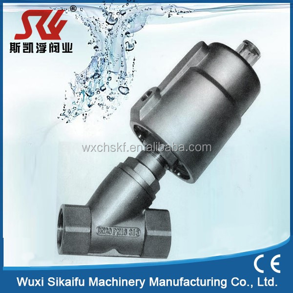 SS304 or SS316 Air-operated Angle Seat Valve for Filling Machine