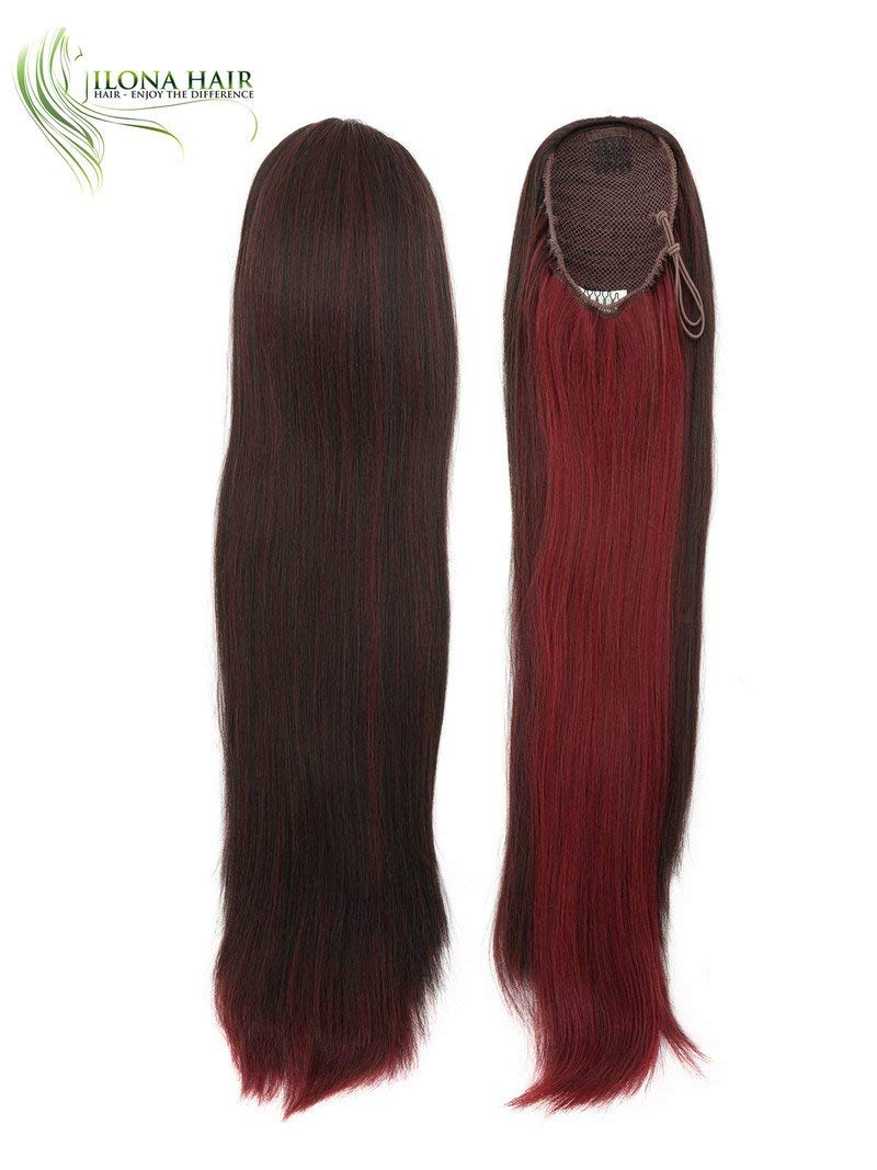 Get Quotations Long Ponytail Extension Hairpiece Straight Hair 19 Drawstring 14 Colors Black Brown Blonde Red Mixed