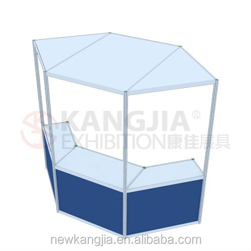 KXhigh quality exhibition folding display showcase table for trade fair